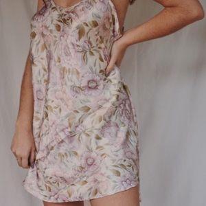 Vintage Dresses - Vintage Floral Slip Dress